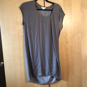 Helmut Lang taupe grey sleeveless dress size p